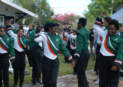 Atlantic High School Band performance during RISE: Climate & Art Weekend
